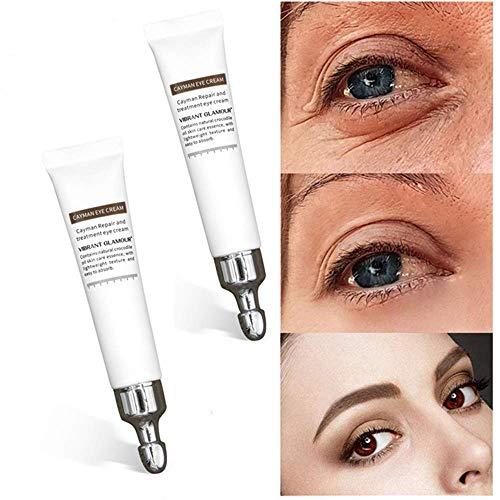 Crocodile Repair Eye Cream,Anti Wrinkle Eye Gel - Minimizes Fine Lines, Reduces Puffiness, Dark Circles, Eye Bags and Crow's Feet Night and Day Moisturizing Cream (2PCS)