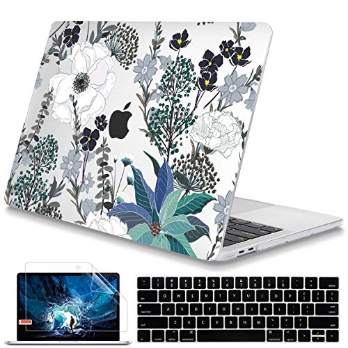 Mektron for MacBook Pro 13 inch Case 2020 A2289 A2215 with Touch bar /& Touch ID Crystal Hard Shell Cover /& Keyboard Skin /& Screen Protector for 2020 MacBook Pro 13 Black