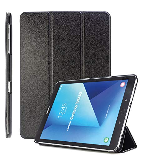 COOVY® Ultra Slim Cover für Samsung Galaxy Tab S2 9.7 SM-T810 SM-T813 SM-T815 SM-T819 Smart Schutzhülle Hülle Hülle mit Standfunktion & Auto Sleep/Wake up | schwarz