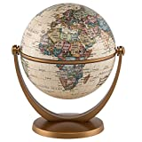 Waypoint Geographic GyroGlobe 4' Classic Oceans - UP-TO-DATE Compact Mini Globe Swivels in All Directions - Perfect for Small Spaces at Home, Office & Classroom