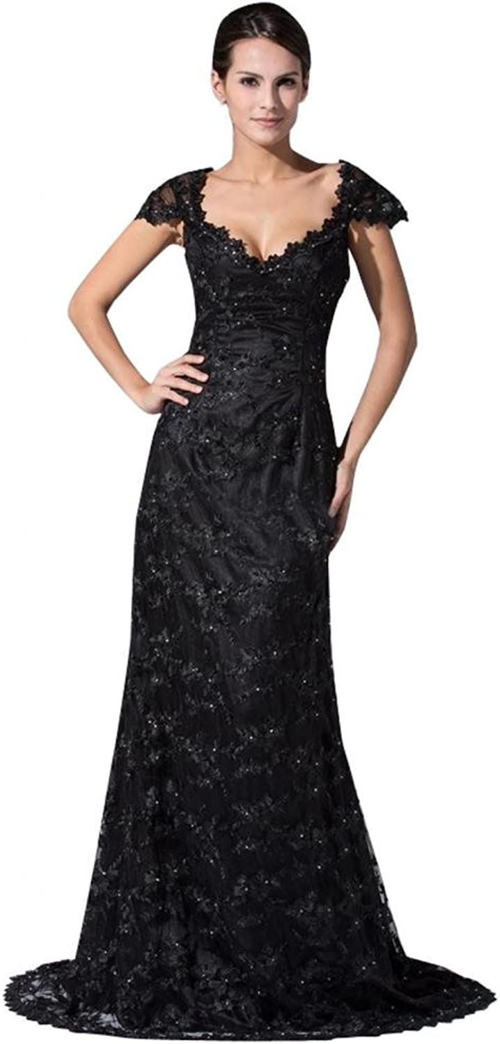 Scarlett Women's Lace Bridesmaid Prom Evening Party Dress