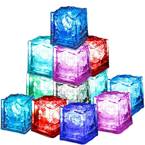 Xrten 12 PCS LED Ice Cube,LED Eiswürfel Dekoration Ice Cube licht für Party