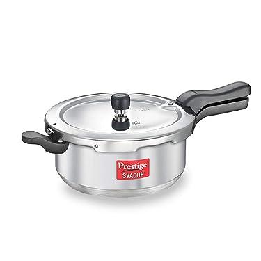 Prestige Svachh Aluminium Senior deep Pan Pressure Cooker, 5L