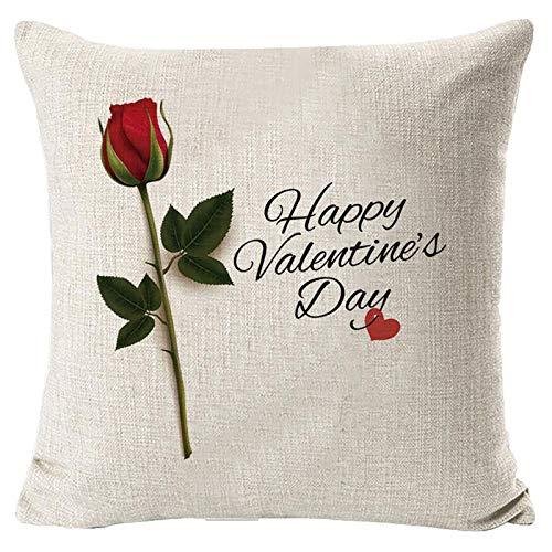 Janly Clearance Sale Funda de almohada, para el día de San Valentín, funda de almohada decorativa, funda de almohada creativa, para Navidad, decoración de hogar y jardín, (D)