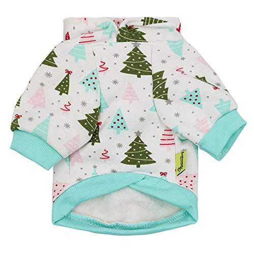 FTXJ Christmas Hoodie Warm Thicken Sweatshirts for Small Dog Girls Boys Winter Warm Sweater Coat Puppy Costume for Chihuahua/Yorkie / Keji/Bago