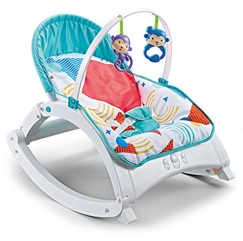 R for Rabbit Rock N Nap Rocker Chair for Baby-Musical Rockers for New Born Babies (Red)