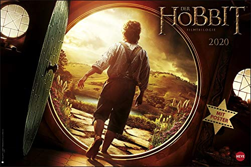Der Hobbit Broschur XL. Wandkalender 2020. Monatskalendarium. geheftet. Format 45 x 30 cm
