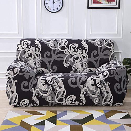 Fundas de sofá para sofás Funda elástica para sofá de 4 plazas y 4 plazas 2 Piezas Funda de sofá elástica para Sala de Estar geométrica,Funda para Chaise Longue en Forma de L