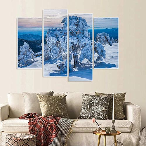 WENJING Canvas muur kunst modulaire Pictures Home Decor 4 stuks Duck honing schilderijen woonkamer Hd Printed Animation, Poster 30X60Cmx2 30X80Cmx2 Geen lijst