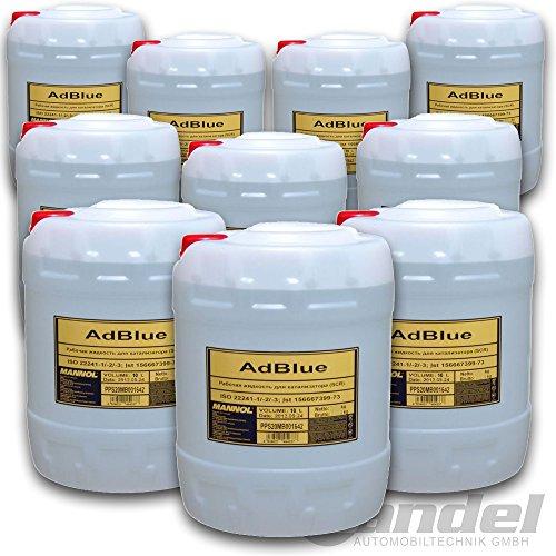 Bandel-Automobiltechnik AdBlue 100 Liter SCR Harnstofflösung AUS 32 ISO 22241 MB VW Audi für PKW LKW Diesel