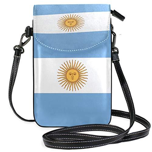 Argentinische Flagge Crossbody Tasche Handy Geldbörse Geldbeutel mit Kreditkartenfächern für Frauen