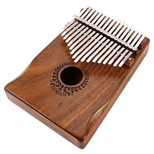 MILISTEN Kalimba Daumen Klavier 17 Tasten Tragbare Mbira Finger Klavier Musikinstrument Geschenke für Kinder Erwachsene Anfänger