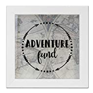 Lawrence Frames 8x8 Adventure Fund White Shadow Box Frame