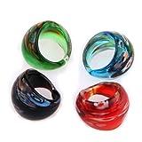 Ecloud Shop 4 X Ring Ringe aus Design Millefiori 17-19mm 4 Farbe