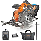 VonHaus Cordless Circular Saw with 3.0Ah Li-ion 20V MAX Battery, Charger, 1 x 165mm / 6 ½' TCT Tip Blade &...