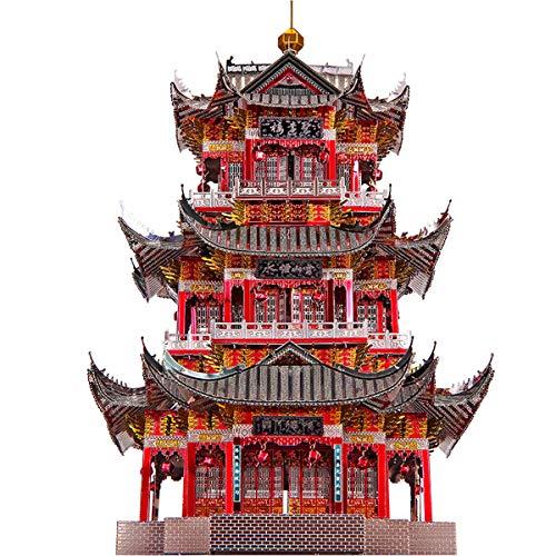 piececool Juyuan Tower 3D Metall Puzzle Modell Kits DIY 3D Laserschnitt Modell-Bausatz Spielzeug P111-RKS
