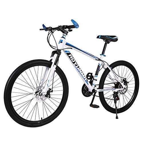 Ninasill Adult Mountain Bike, 26 inch, Mountain Trail Bike High Carbon Steel Mountain Bike, 21-Speed Bicycle Full Suspension MTB Gears Dual Disc Brakes Mountain Bicycle