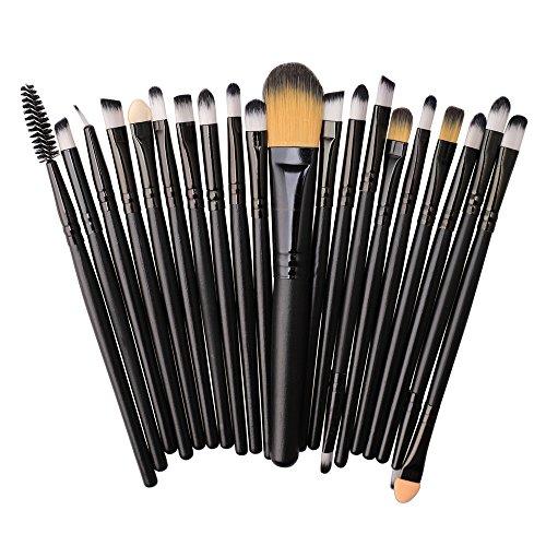 ITISME-ITISME-20 Pcs/Set Maquillage Brush Set Makeup Brushes Kit Outils Maquillage Professionnel Maquillage Pinceaux Yeux Pinceau Pour Les +1Pc Houppettes à Poudre (T)
