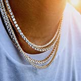 maket Hip Hop Bling Arrow Cubic Zirconia Bling Sparking Wedding Gift Boy Men Cool Tennis Long Chain Tennis Cz Necklace(Gold,18)