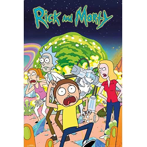 Grupo Erik Editores Poster con diseño Rick and Morty