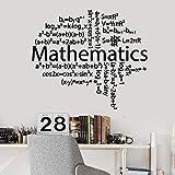 HGFDHG Creativo cerebro pegatinas de pared fórmula matemáticas vinilo ventana pegatinas clase escuela dormitorio adolescente dormitorio interior decoración