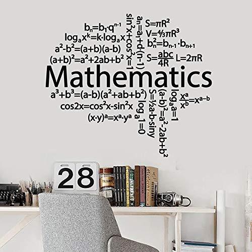 HGFDHG Cerebro Creativo calcomanías de Pared fórmula matemática Pegatinas de Ventana de Vinilo Clase Escolar Dormitorio Adolescentes Dormitorio decoración Interior