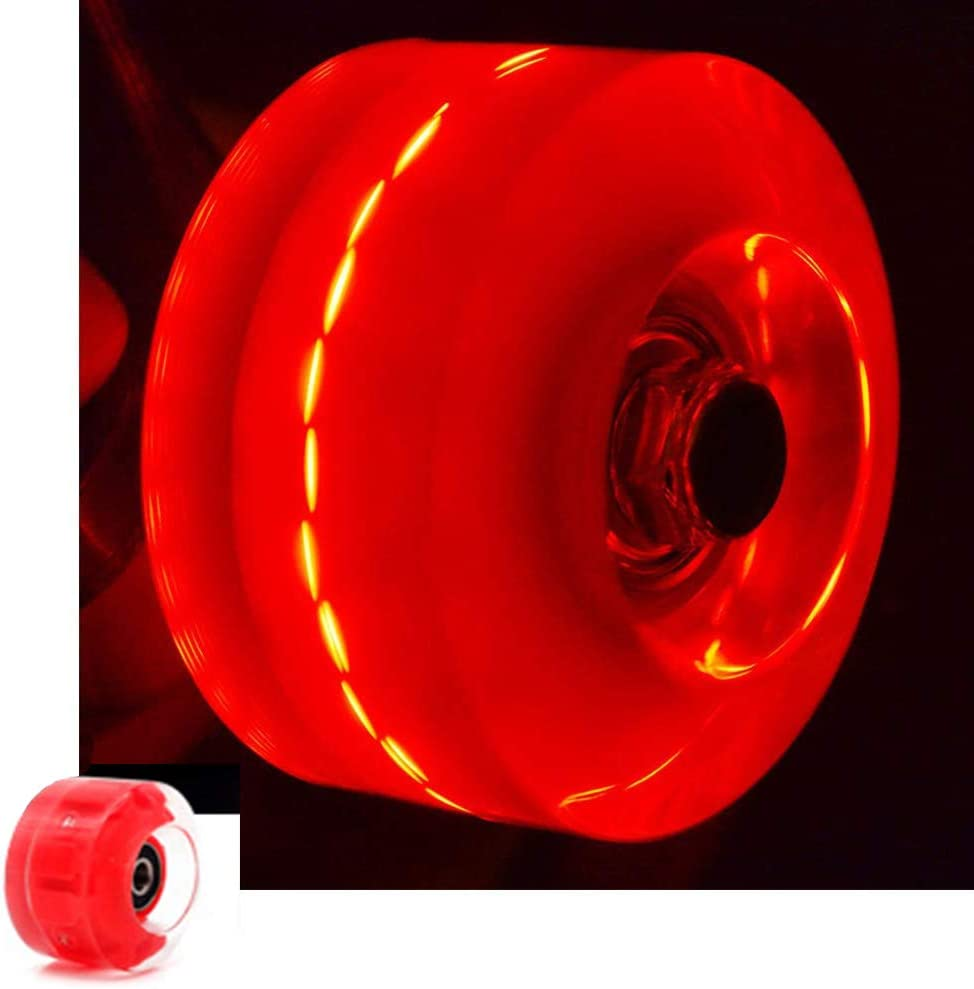zmr Light up Skateboard Wheels Roller Skate Wheels Hardness 82A is Suitable for Double-Row Pulleys and Skateboards 4pcs 58/×32mm