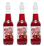 Pack of 3 Victorio Time for Treats Snow Cone Syrups 16.9oz Made in USA (Cherry)
