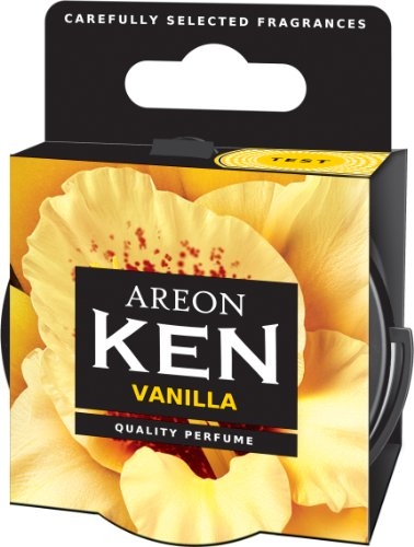 AREON Ken Désodorisant Voiture Vanille Maison en Pot Couvercle Ventilé Réglable 3D (Vanilla Lot de 6)