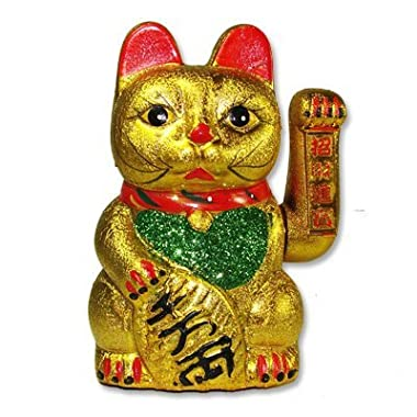M.V. Trading MCAT101V Beckoning Ceramic Maneki Neko Lucky Cat, 7-Inches