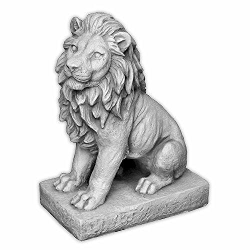 gartendekoparadies.de Herrlicher Löwe Torwächter Blickrichtung Links aus Steinguss, frostfest