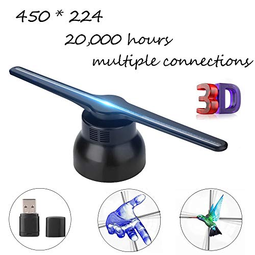 3D-hologramprojector, holografisch videobeeldweergaveapparaat met een kijkhoek van 150 °, 20000 uur LED's, narrowcasting reclamemachine wandmontage display-ventilator voor marketing, tentoonstelling