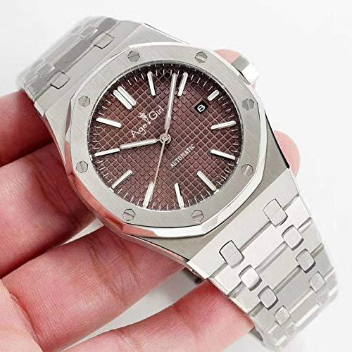 GFDSA Automatische horloges Luxe merk Herenhorloge Roestvrij staal Automatisch Mechanisch Saffierglas Achterkant Doorzichtig Zwart Blauw Grijs
