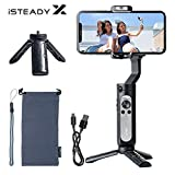 Hohem iSteady X Gimbal Stabilisator,3-Achsen-Handy Gimbal mit Selfie-Modus,App-Steuerung Video Editing,Leichtes Smartphone Gimbal für 11 Pro Max/X,Huawei/Samsung,Auto Kalibrierung,für Vlog YouTube