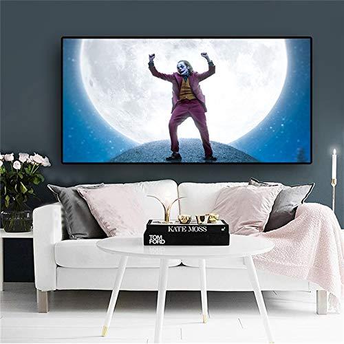 KWzEQ Filmclown Leinwand Malerei Comic Wandkunst Clown Dekoration Familienbild Filmplakat60X108cmRahmenlose Malerei