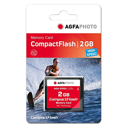 AgfaPhoto Compact Flash 2GB - Memoria Compact Flash de 2 GB, Negro
