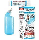 "Nasopure Nasal Wash | Sampler Kit | ""The Nicer Neti Pot"" Sinus Rinse Kit | Comfortable Nasal Rinse Bottle & Salt Packets | Nasal Congestion, Cold, Flu, Allergy | Nasal Irrigation System | Nasal Lavage"
