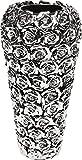 Kare Florero de Rosas Decorativo, Multi Cromo, Grande, Plata, 45 x 21.5 x 21.5 cm, Aluminio