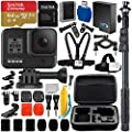 """GoPro HERO8 (Hero 8) Action Camera (Black) with Adventurer Accessory Bundle - Includes: SanDisk Extreme 64GB microSDXC Memory Card + 48"""" Selfie Stick/Monopod + Protective Carrying Case + More"""
