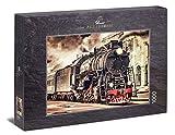 Ulmer Puzzleschmiede - Puzzle Locomotora de Vapor - Puzzle de 1000 Piezas - la histórica Locomotora de Vapor Frente a la estación