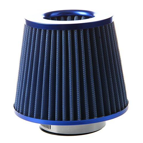 OVBBESS Kit de inducción universal del vehículo del filtro de aire del coche del equipo de alta potencia de la malla azul