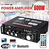RONSHIN 600W LCD Amplificador HiFi Audio Estéreo Bluetooth FM 2CH AMP Car Home USB SD Reproductor de MP3