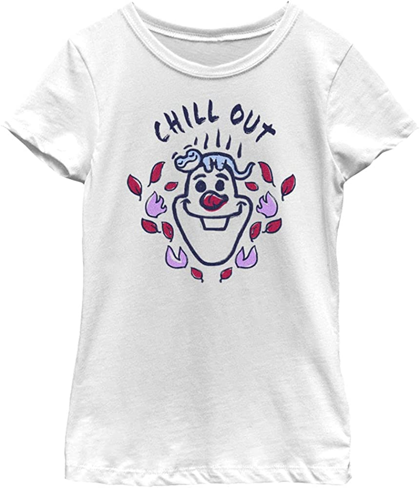 Disney Frozen 2 Olaf Chill Girl's Solid Crew Tee