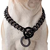 Durable Walking Dog Training Collar, Strong Stainless Steel Chain for...