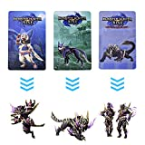 3 pcs NFC Cards for Monster Hunter Rise Compatible Switch, Game Cards for Switch/Switch Lite with Storage Box