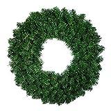 WanXingY 1 unids Corona de Pino Artificial para la Ventana de la Puerta de la Puerta Delantera de la Navidad Decoración de la Chimenea Guirnalda 50 cm (Color : Verde)