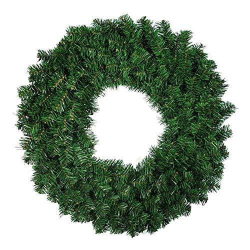WanXingY 1 stücke Künstliche Kiefernkranz für Weihnachten Fronttürfenster Kamin Dekoration Girlande 50 cm (Farbe : Grün)