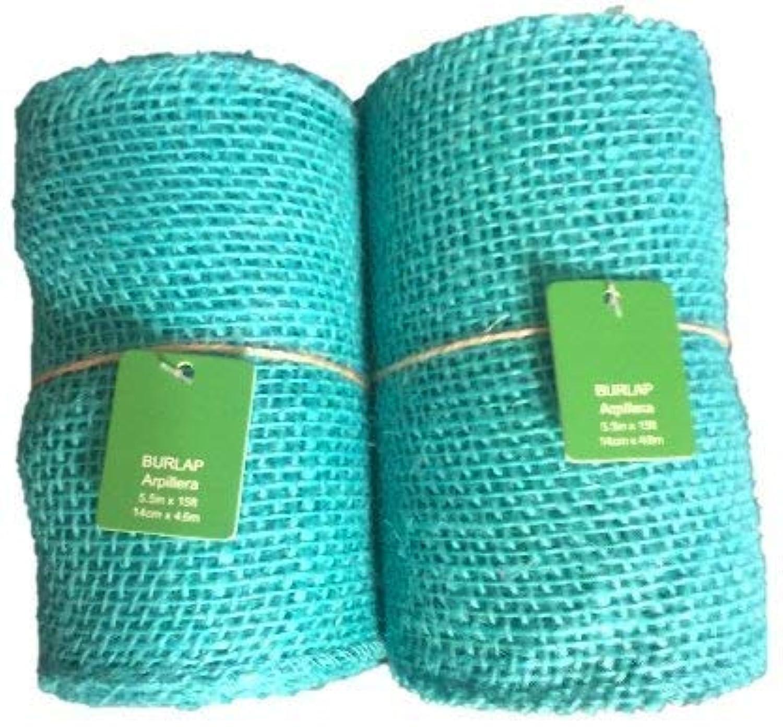 Teal Burlap Craft Ribbon Roll - 5.5