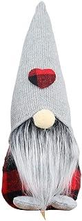 Boné de Natal com design adorável e sem rosto Gnomo Papai Noel para Meninas de Natal e Meninos Decoração de Presente da He...