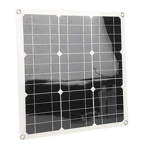 Duales USB-Solarladegerät, monokristallines 12V / 5V 30W-Solarpanel, langlebig und lichtempfindlich, Auto-RV-Boot, mit 4 Saugnäpfen, Auto,